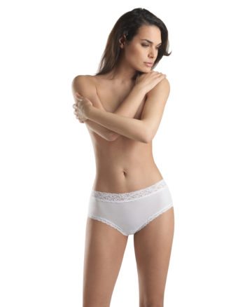 Slip Moments Hanro Donna Full Brief Bianco