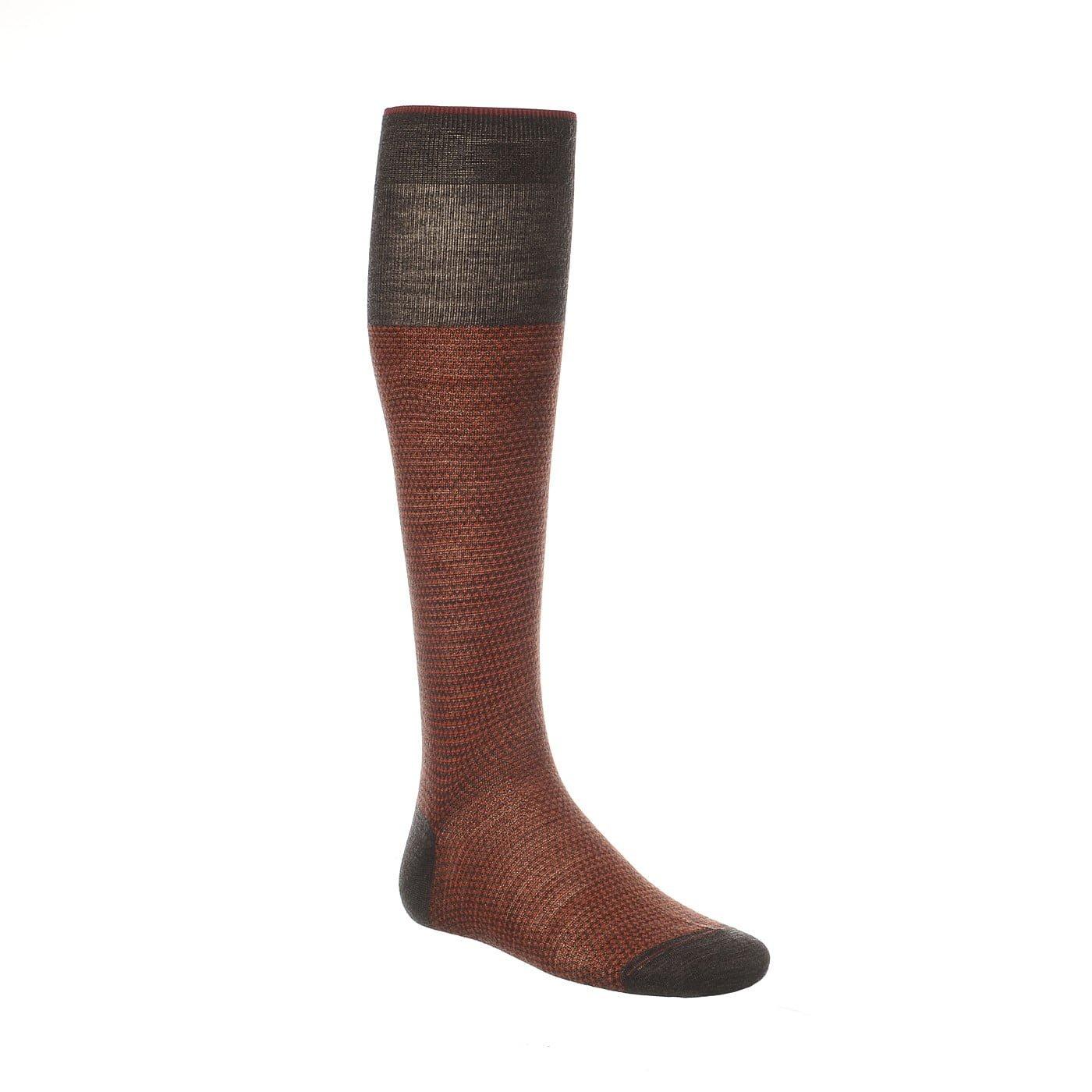 Calze Gallo lana maglia rasata a rombetti