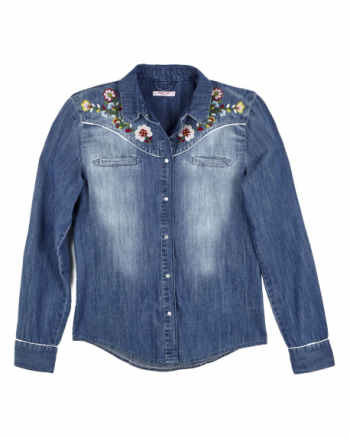 Camicia Jeans Pin Up Stars