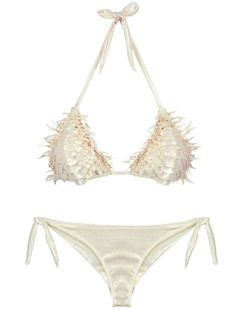 Bikini Pin Up Stars squame coccodrillo fronte dettaglio