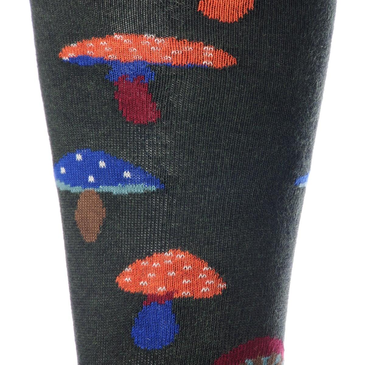Calze Gallo funghetti color foresta dettaglio