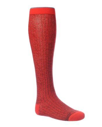 Gambaletti Gallo da Uomo fantasia lettere color rosso