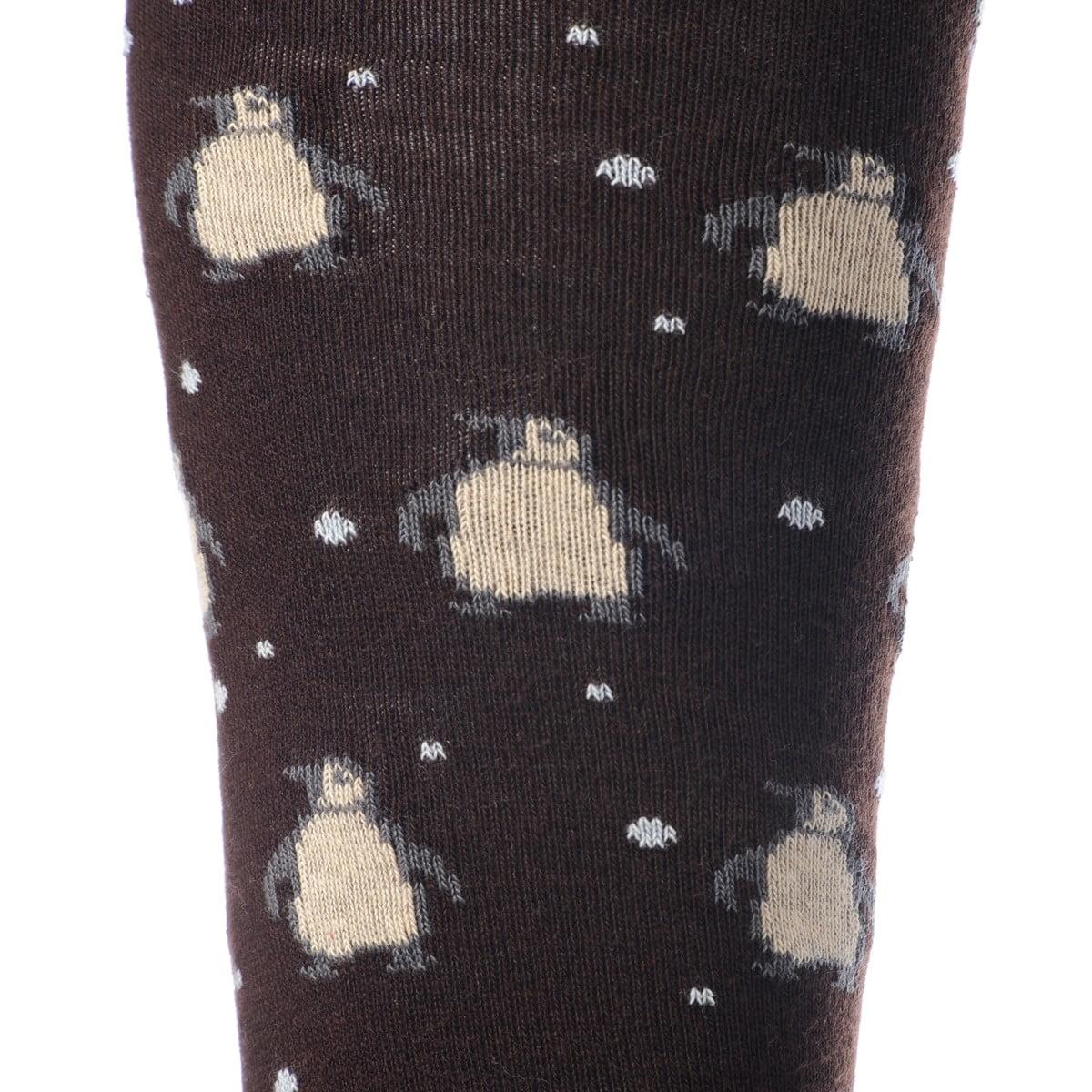 Calze Gallo Pinguini color marrone - dettaglio