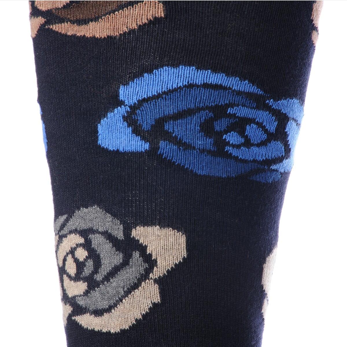 Calze Gallo Rose blu dettaglio