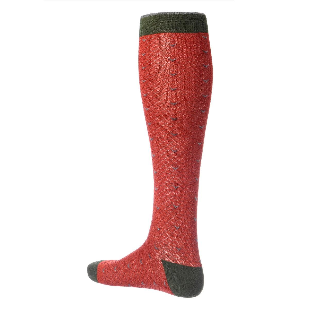 Gambaletto Gallo da Uomo color sangue - retro
