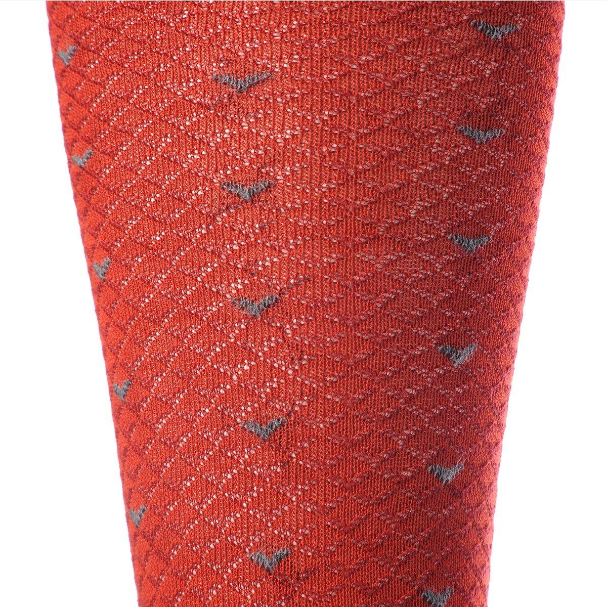 Gambaletto Gallo da Uomo color sangue - dettaglio fantasia