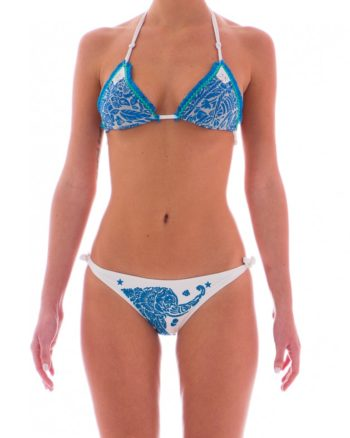 Bikini Pin Up Stars animal flower blu