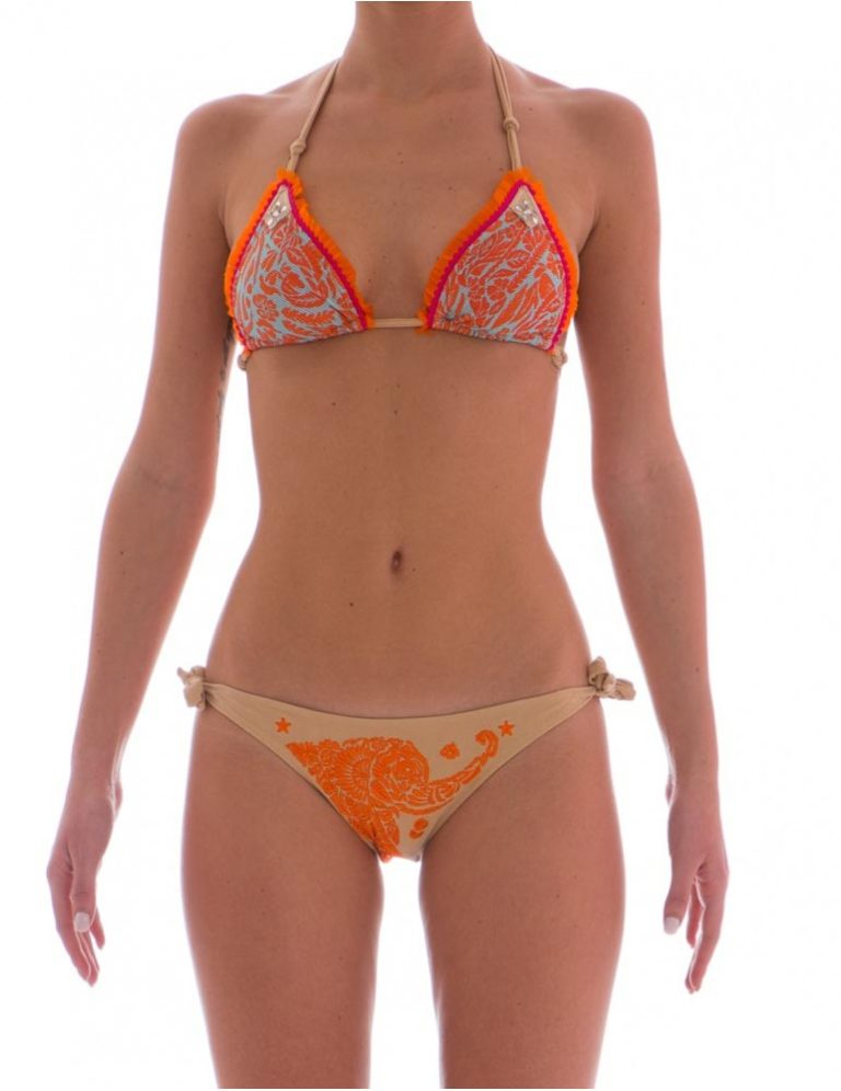 Bikini Pin Up Stars animal flower arancio