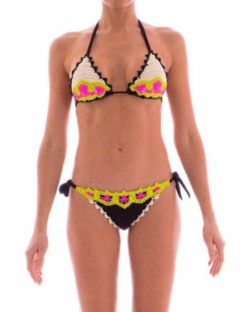 Bikini Pin Up Stars crochet nero
