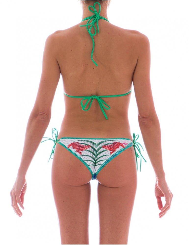 Stampa Jungle e rete per questo splendido bikini Pin Up Stars retro