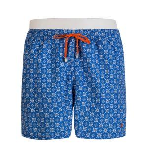 """Costume Uomo Gallo """"Fiore"""" Batik Azzurro"""