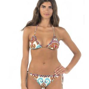 Bikini Anjuna Bianco Stampa Esclusiva
