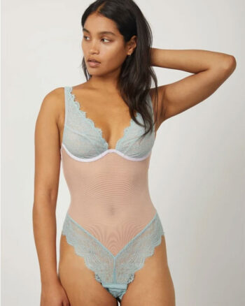 Dora Larsen Body Iris High Apex tulle e pizzo