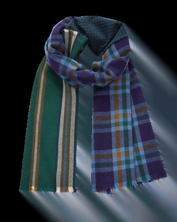 Inouitoosh Sciarpa Pila fantasia scozzese busto colore verde