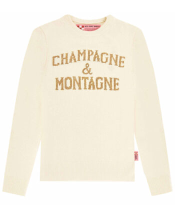 Maglione MC2 Saint Barth Champagne & Montagne bianco
