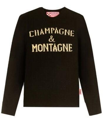 Maglione MC2 Saint Barth Champagne & Montagne nero